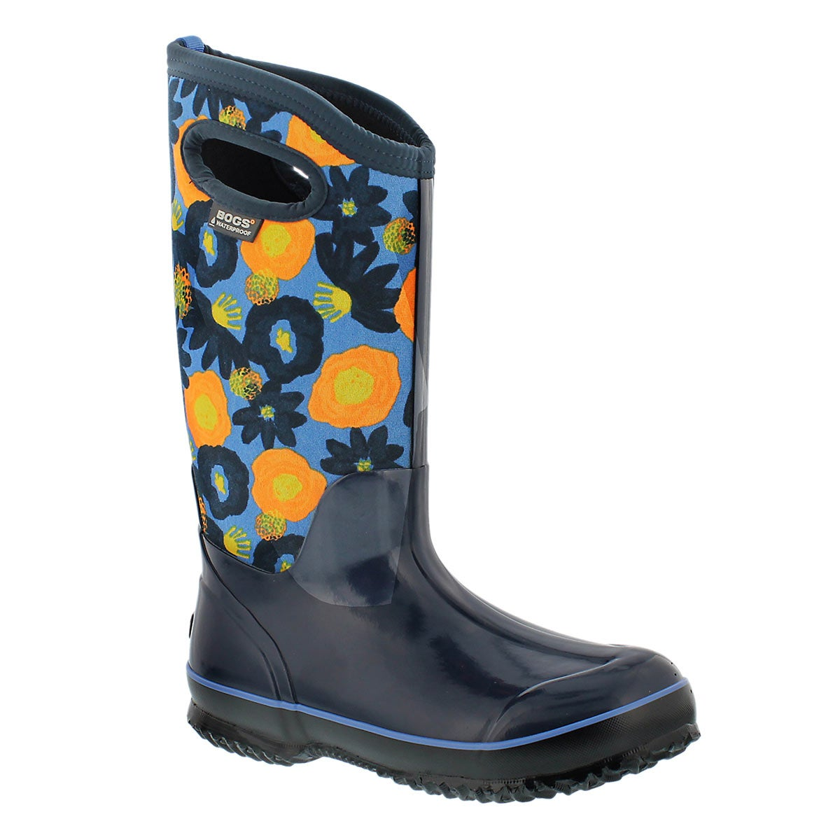 Lds Watercolor Tall blue multi wtpf boot
