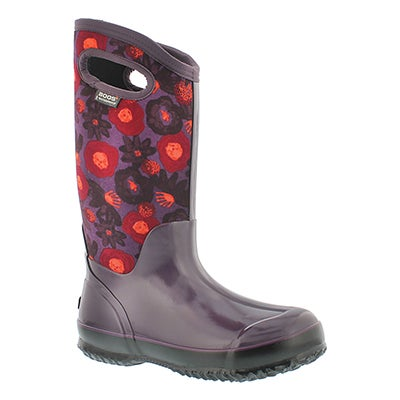Bogs Women's WATERCOLOR TALL plum multi wtpf boots