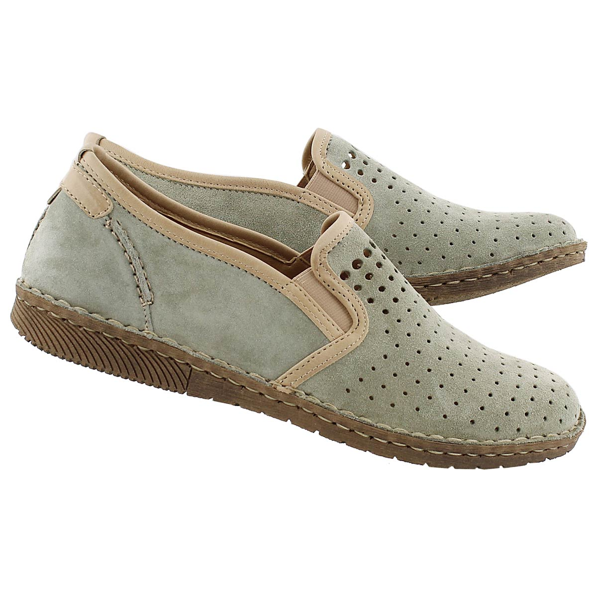 Lds Sofie 11 sage slip on casual shoe