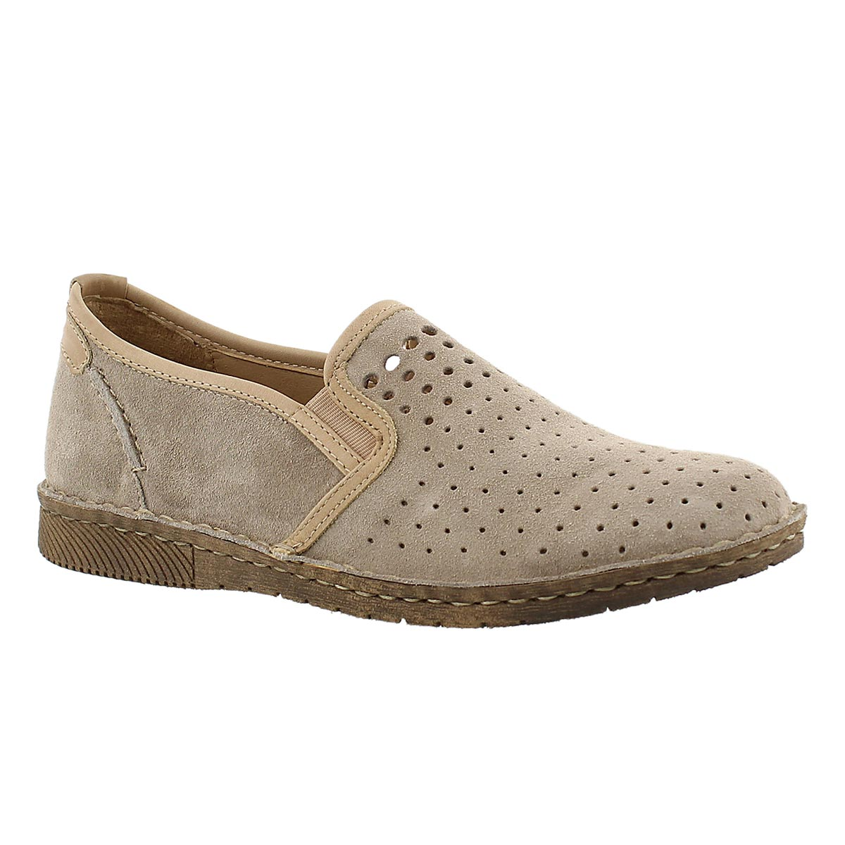 Lds Sofie 11 linen slip on casual shoe