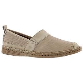 Lds Sofie 17 sand casual slip on shoe