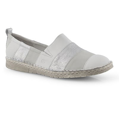 Lds Sofie 23 white slip on shoe