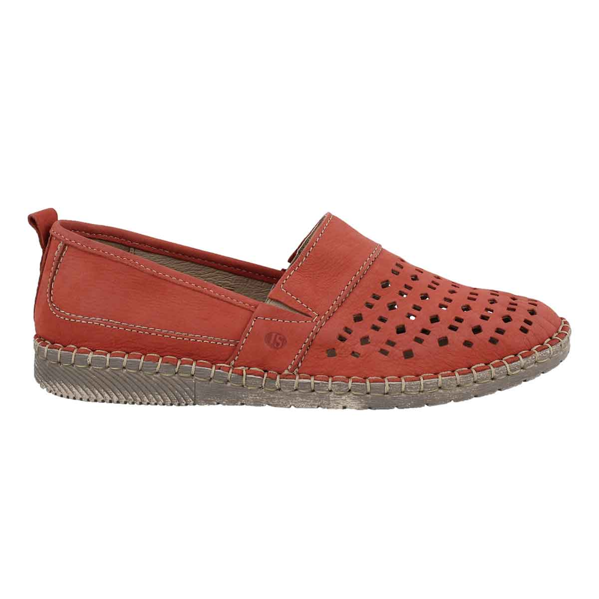 Lds Sofie 27 red slip on shoe