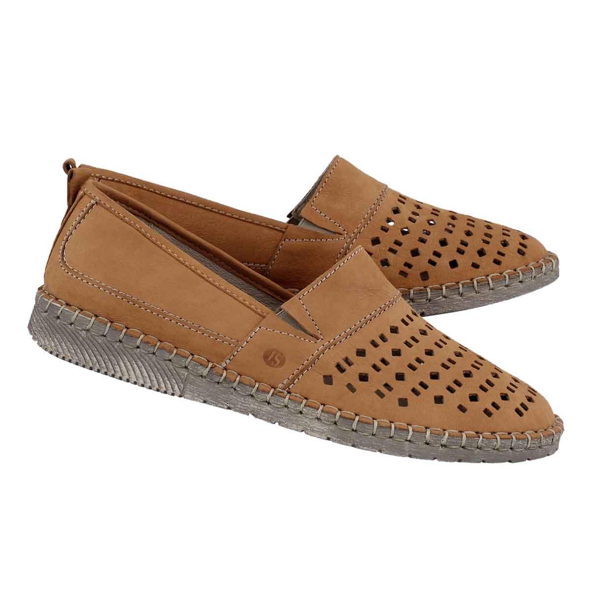 Lds Sofie 27 orange slip on shoe