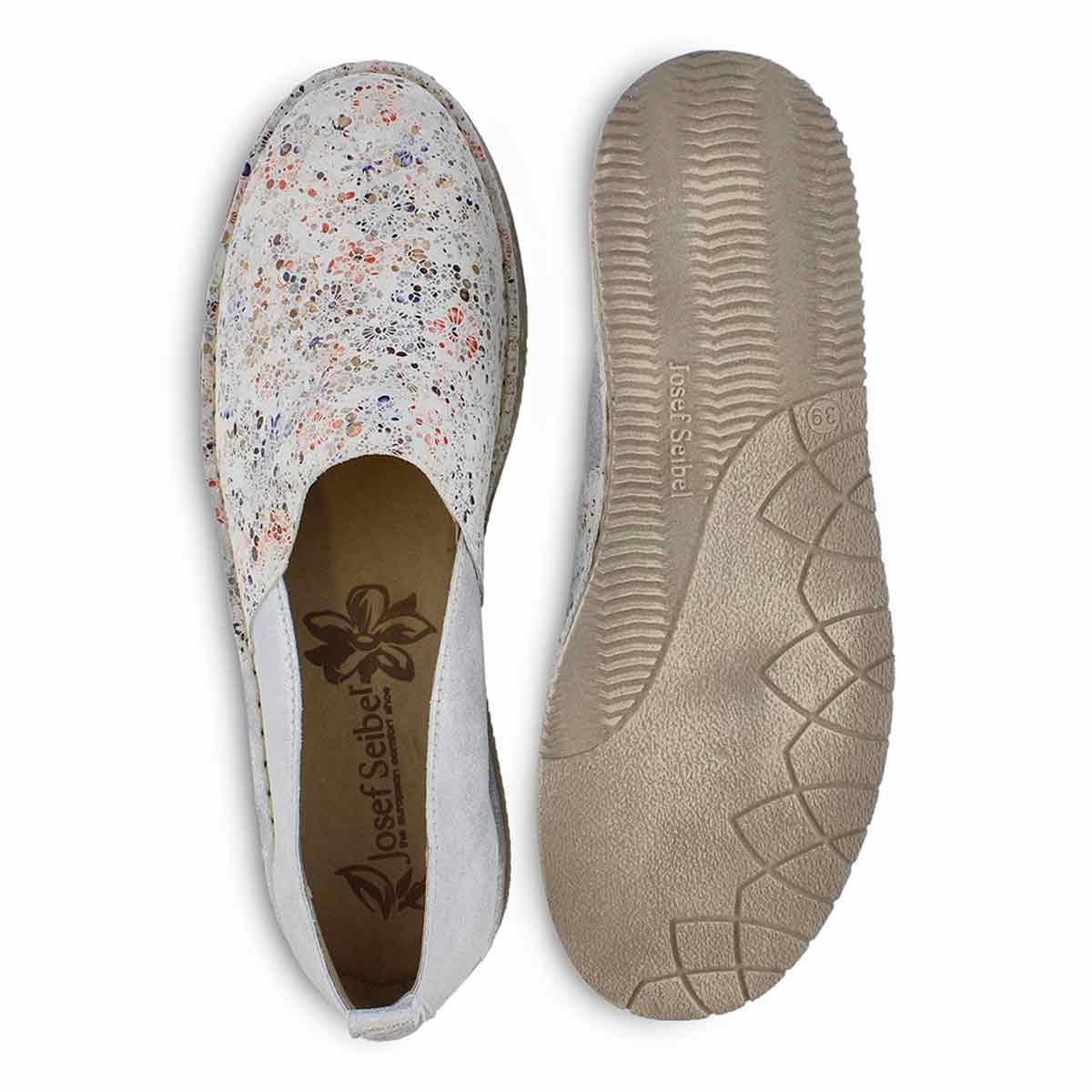 Lds Sofie 33 white slip on shoe