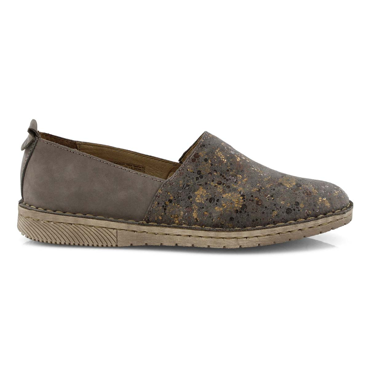 Lds Sofie 33 taupe slip on shoe