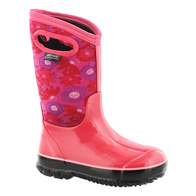 Bogs Girls' CLASSIC WATERCOLOR magenta wtpf boots
