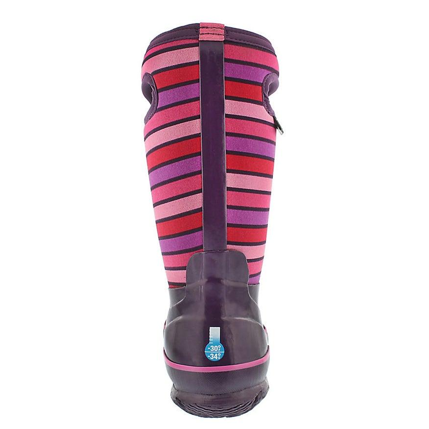 Grls Classic Stripes purple wtpf boot