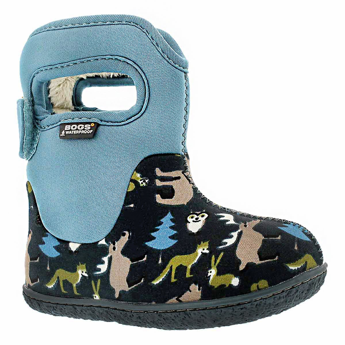 Infs Classic Woodland navy wntr boot