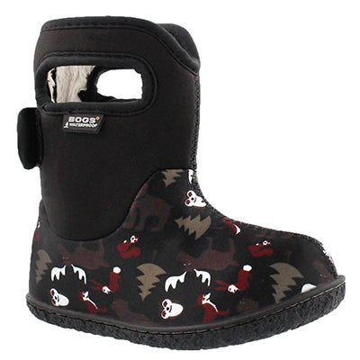 Bogs Infants' CLASSIC WOODLAND black winter boots