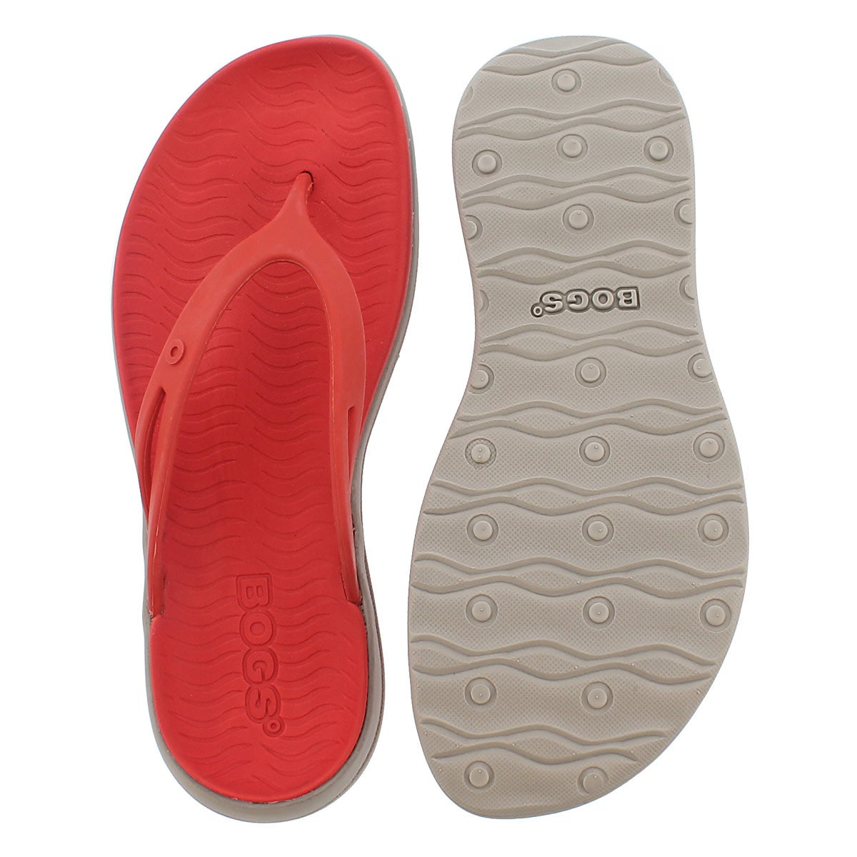 Lds Gracie red multi wtpf flip flop