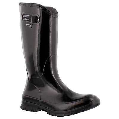 Bogs Women's BERKLEY black tall rain boots