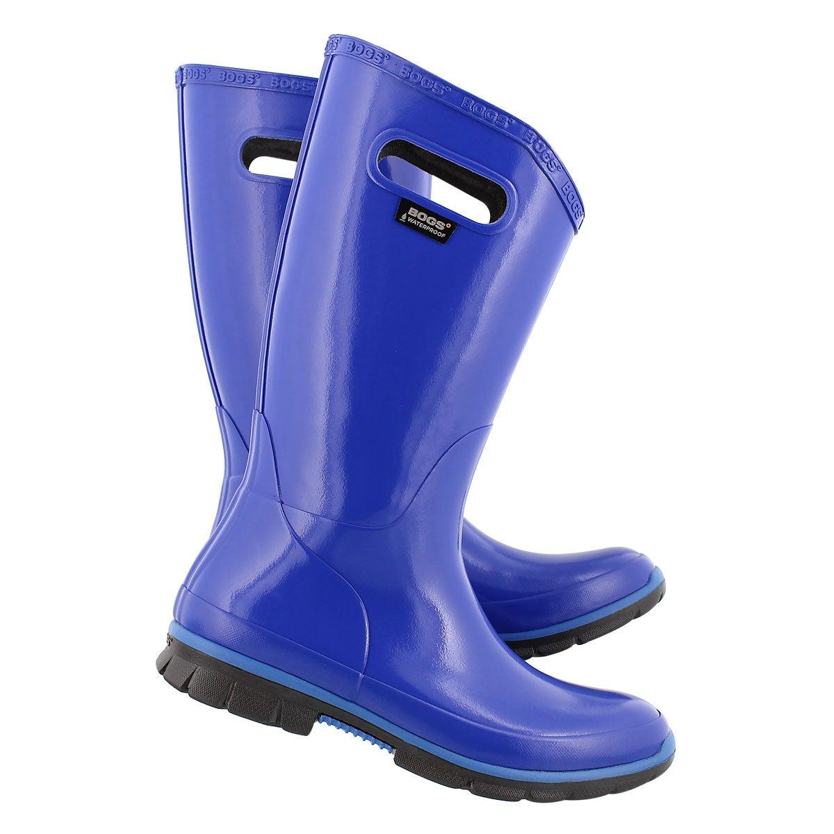 Lds Berkley french blue tall rain boot