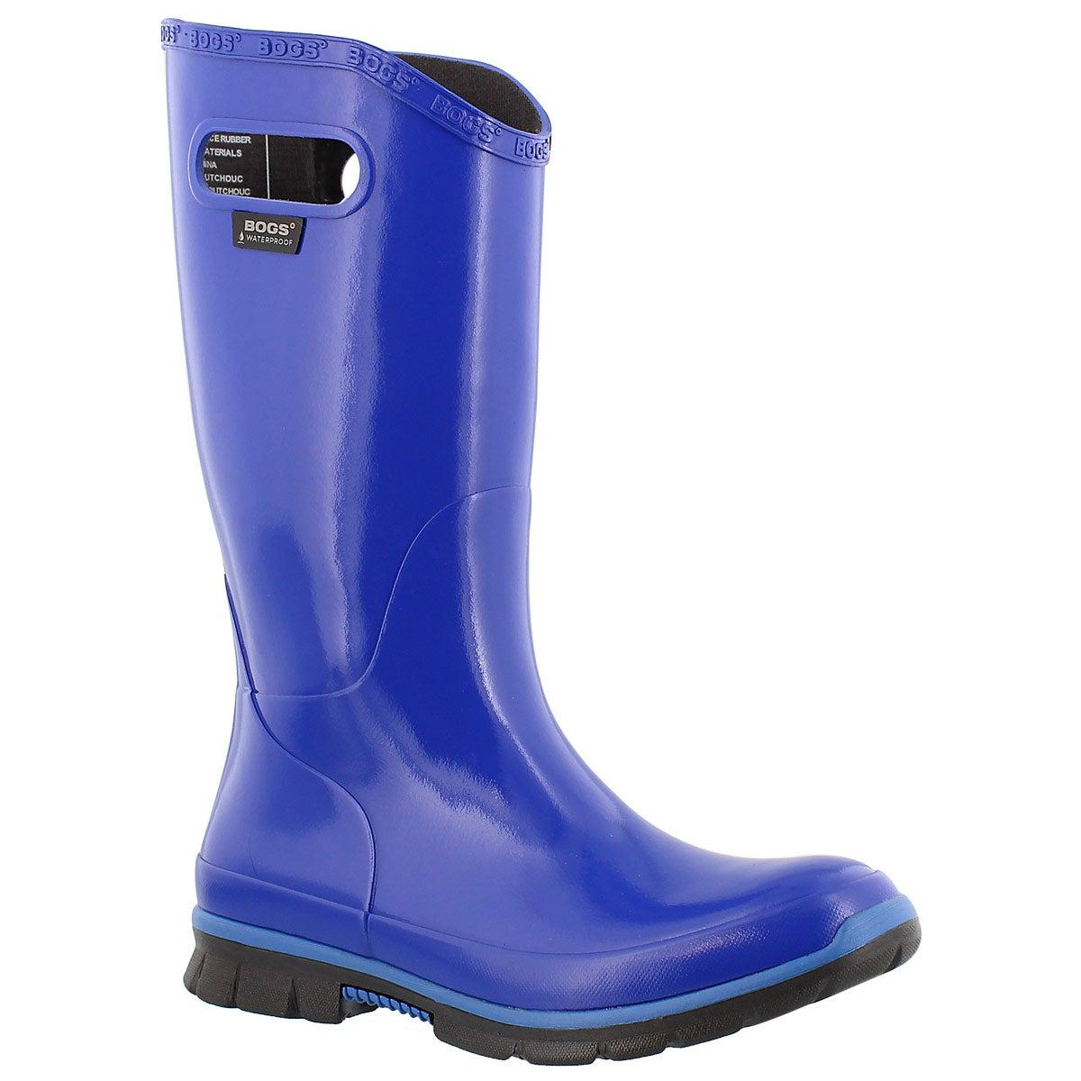 Botte de pluie haute Berkley, bleu, fem