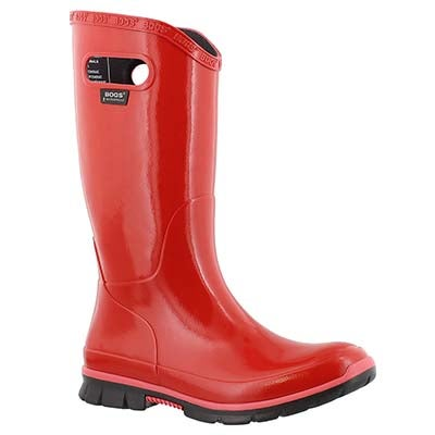 Bogs Women's BERKLEY red tall rain boots
