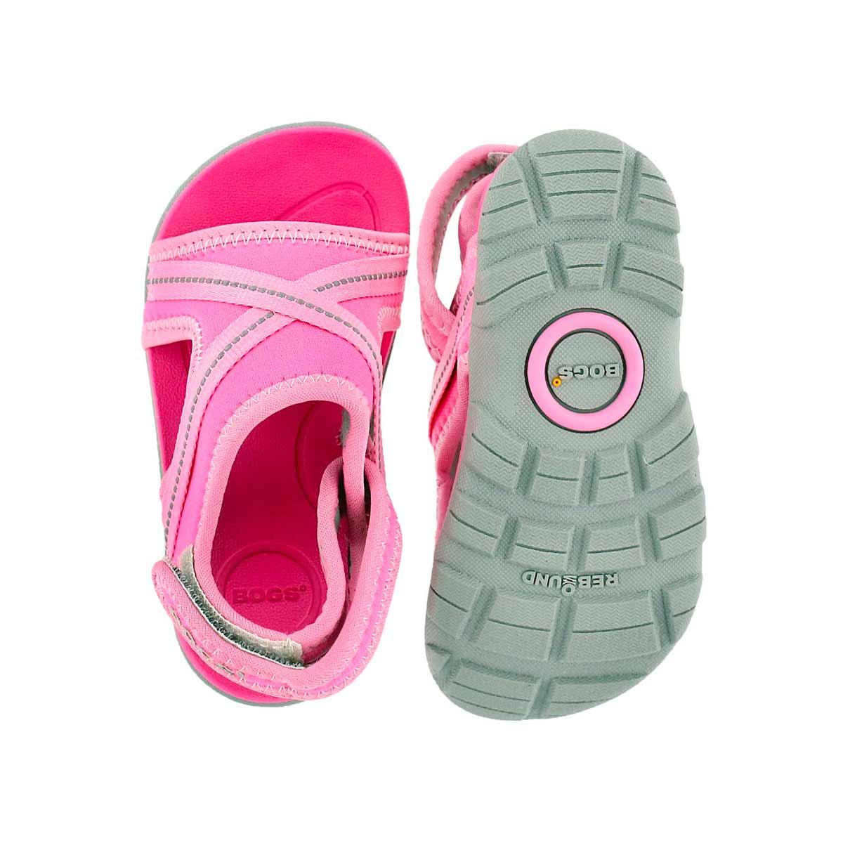 Inf Bluefish pnk multi wtpf sport sandal