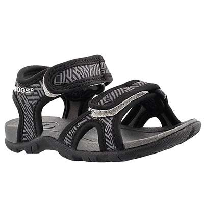 Bogs Infants' WHITEFISH SHATTER blk waterproof sandals