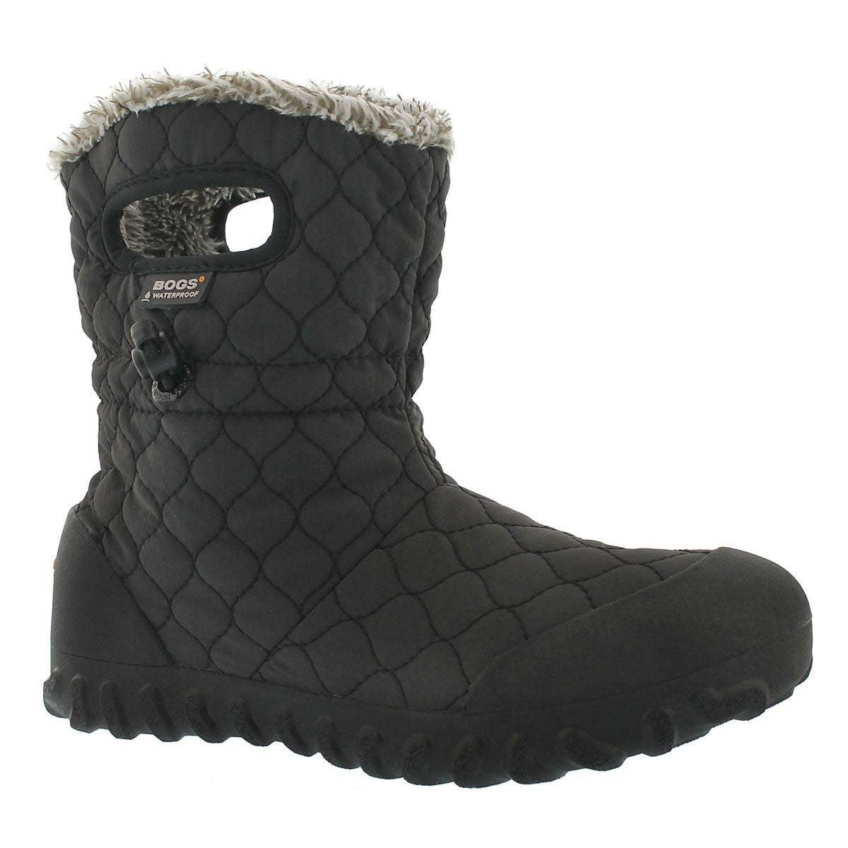 Women's B-MOC QUILTED PUFF black waterproof boots