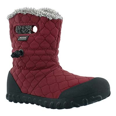 Bogs Women's B-MOC QUILTED PUFF burg waterproof boots