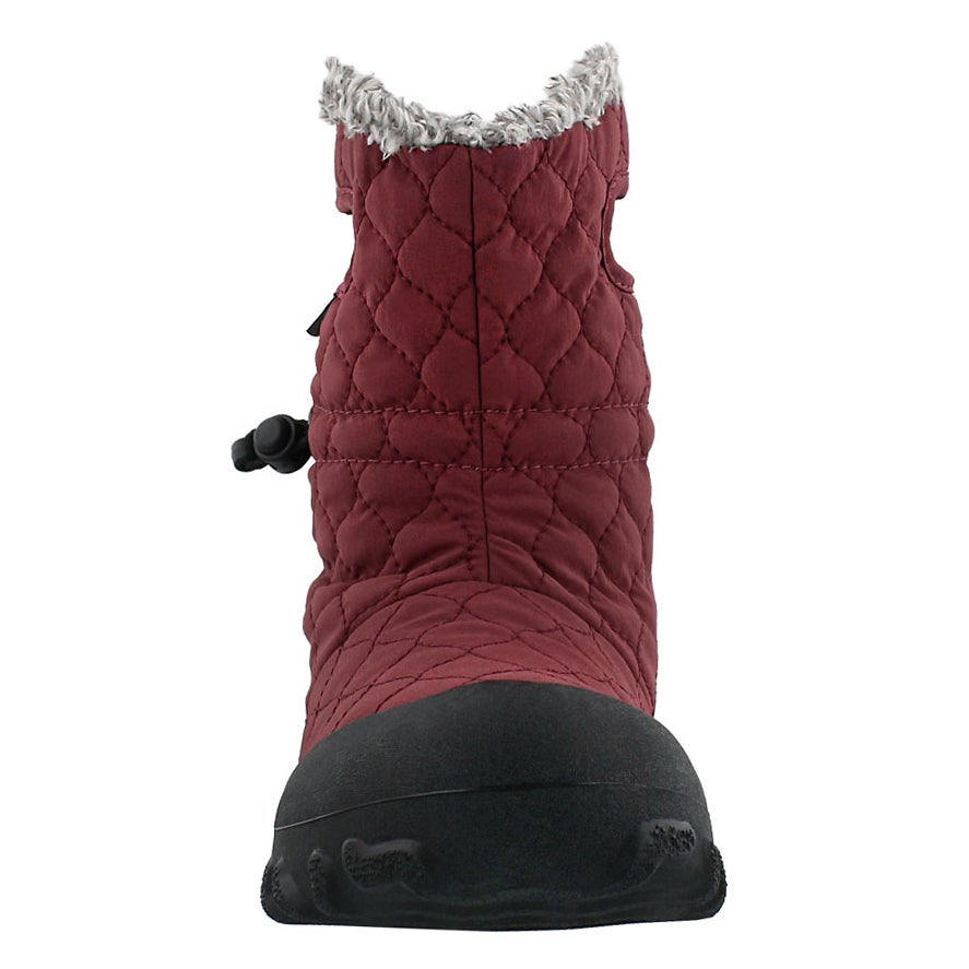 Lds B-Moc Quilted Puff burg wtpf boot