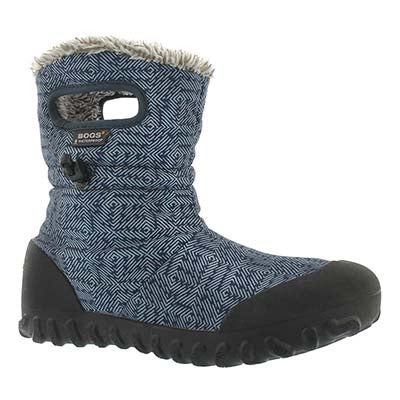 Lds B-Moc Dash Puff blue wtpf boot