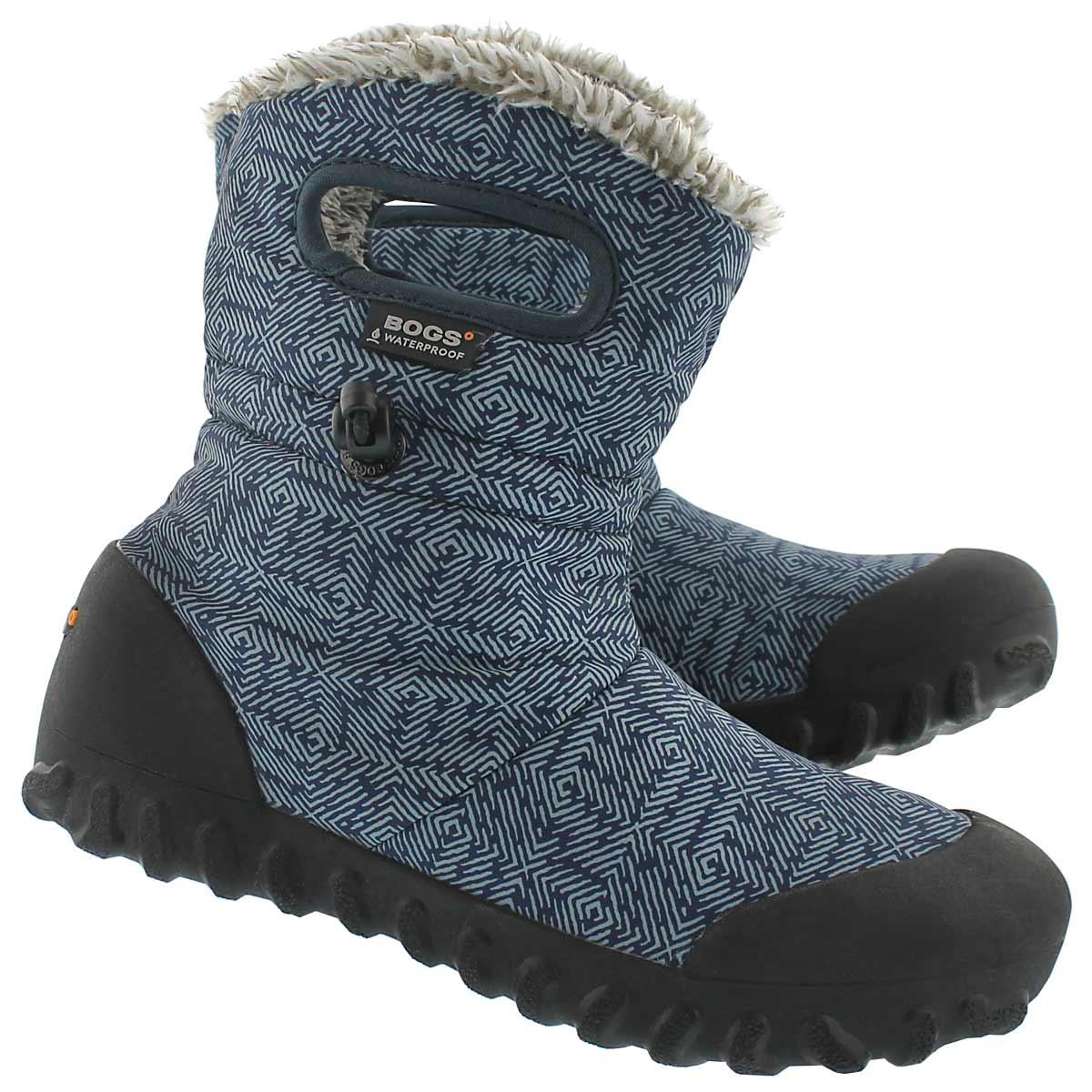 Lds B-Moc Dash Puff blue wtpf boot