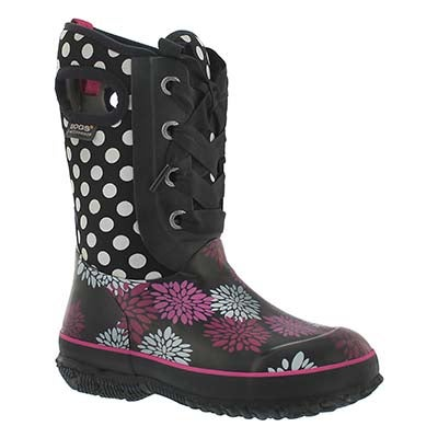 Grls Casey Pompons Dots black wtpf boot