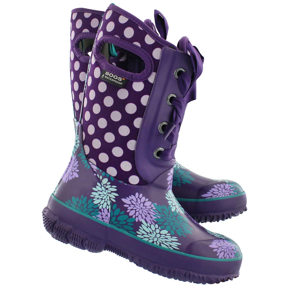 Grls Casey Pompons Dots grape wtpf boot