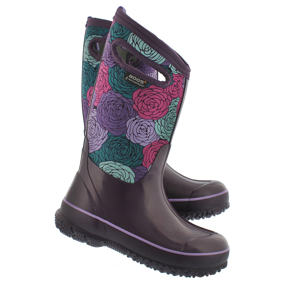 Grls Classic Rosey ppl multi wtpf boot