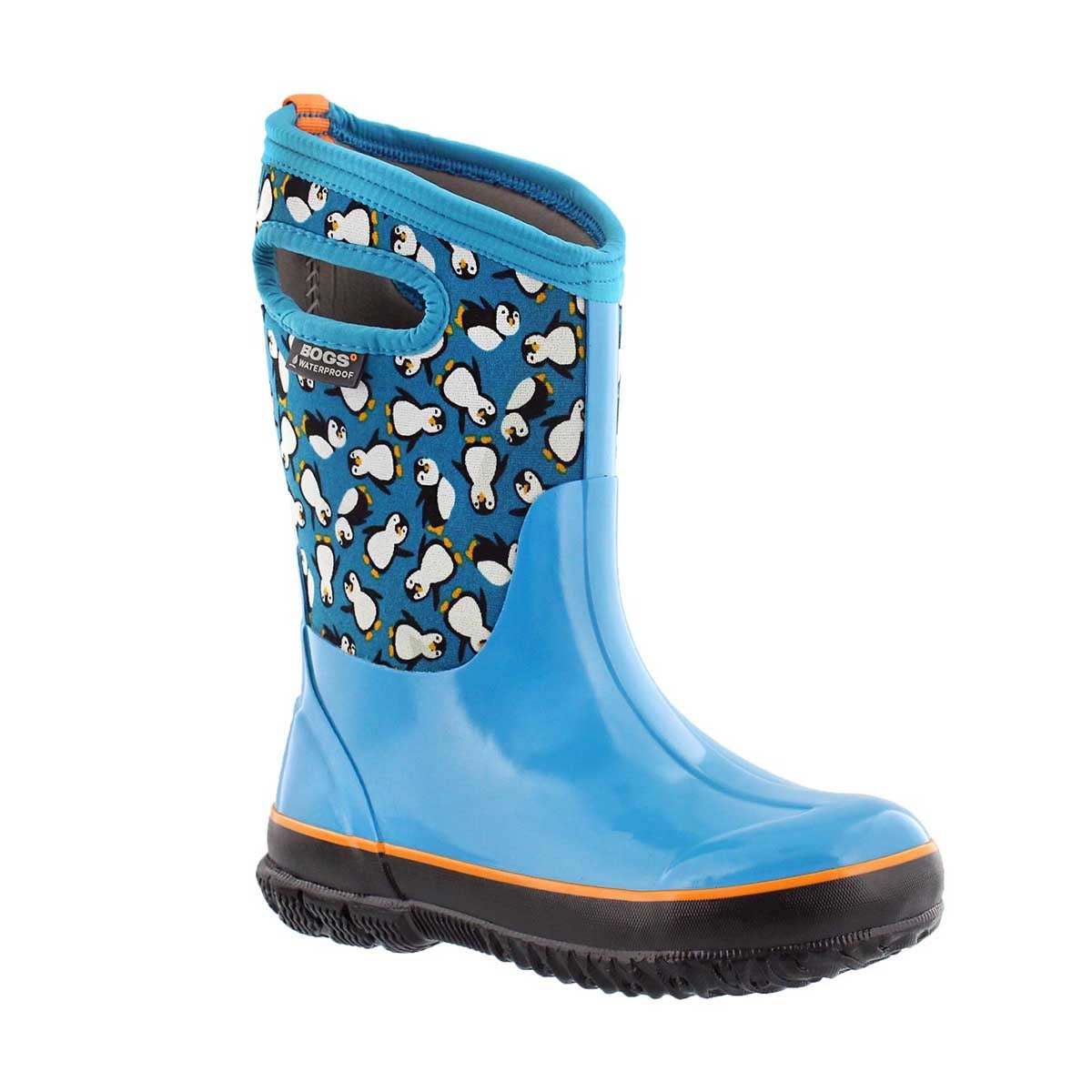 Girls' CLASSIC PENGUINS trq mlti waterproof boots