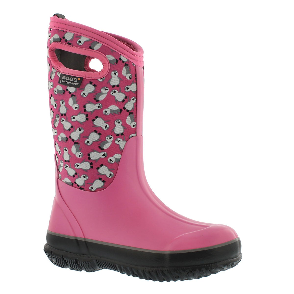 Girls' CLASSIC PENGUINS pnk mlti waterproof boots