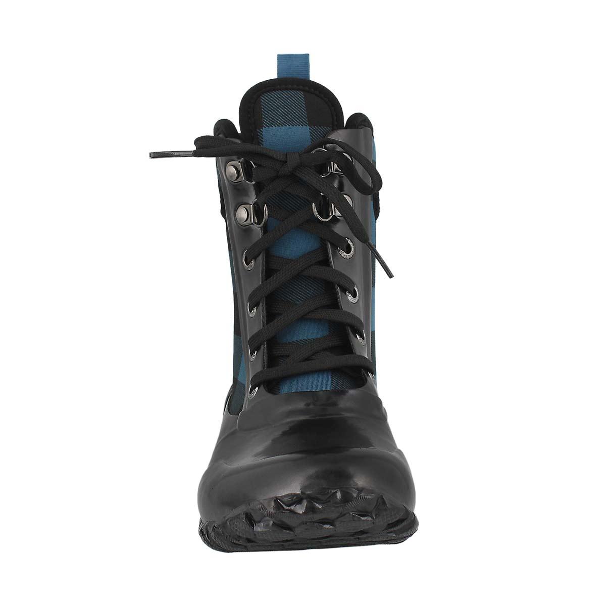 Grls Sidney Lace Plaid blue wtpf boot