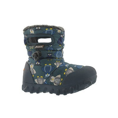 Infs B-Moc Puff Owls nvy mlti wtpf boot
