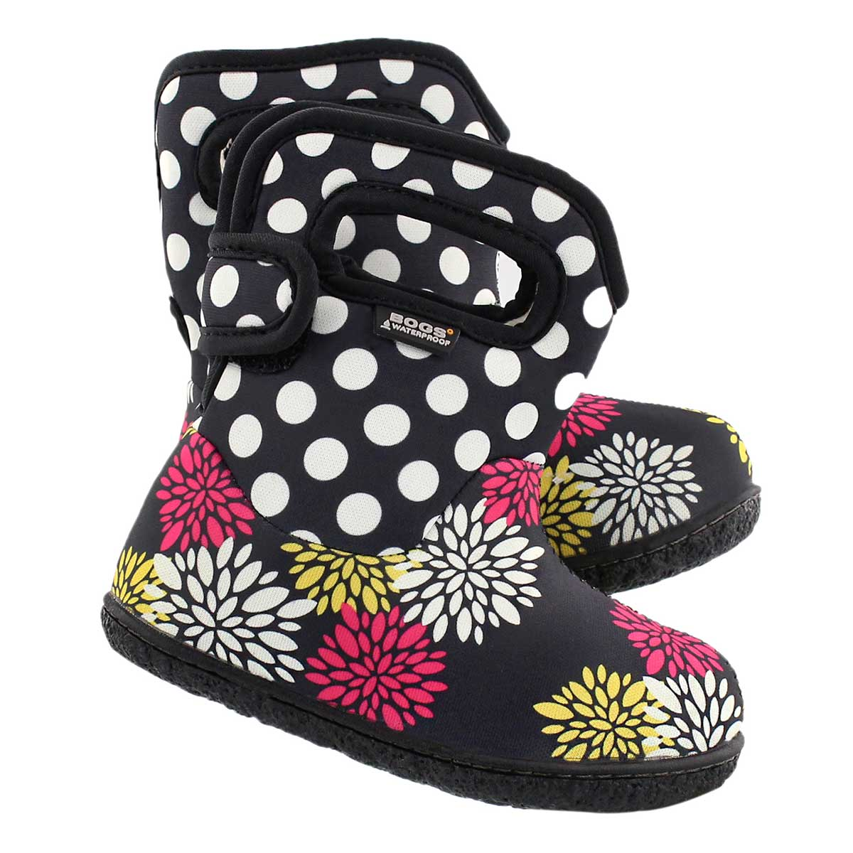 Infs Classic Pompon Dots blk wtpf boot