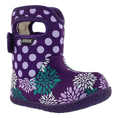 Bogs Infants' CLASSIC POMPON DOTS ppl waterproof boots