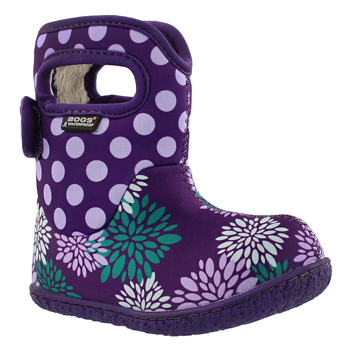 Infants' CLASSIC POMPON DOTS ppl waterproof boots