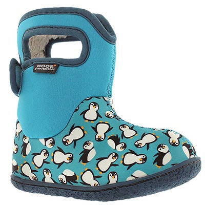 Bogs Infants' CLASSIC PENGUINS trq mlti waterprof boots