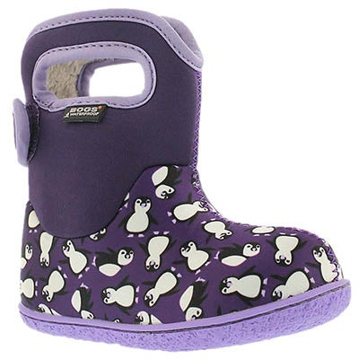Bogs Infants' CLASSIC PENGUINS ppl mlti waterprof boots