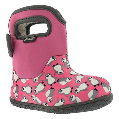 Bogs Infants' CLASSIC PENGUINS pk mlt waterproof boots