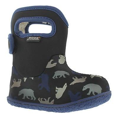 Bogs Infants' CLASSIC POLAR BEARS blk waterproof boots