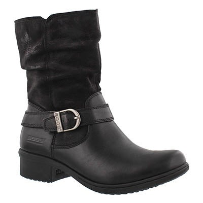 Bogs Women's CARLY MID black waterproof ankle boots