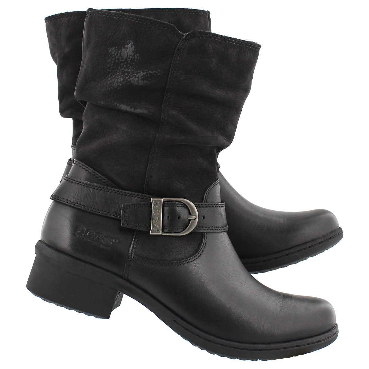 Lds Carly Mid black wtpf ankle boot
