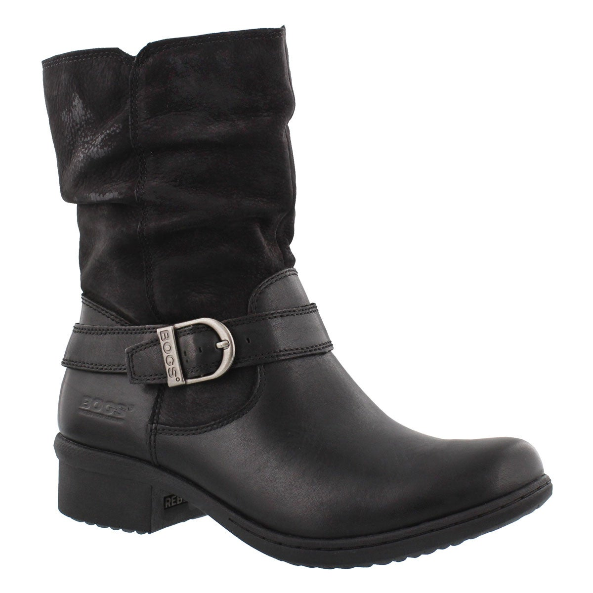 Women's CARLY MID black waterproof ankle boots