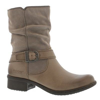 Bogs Women's CARLY MID taupe waterproof ankle boots