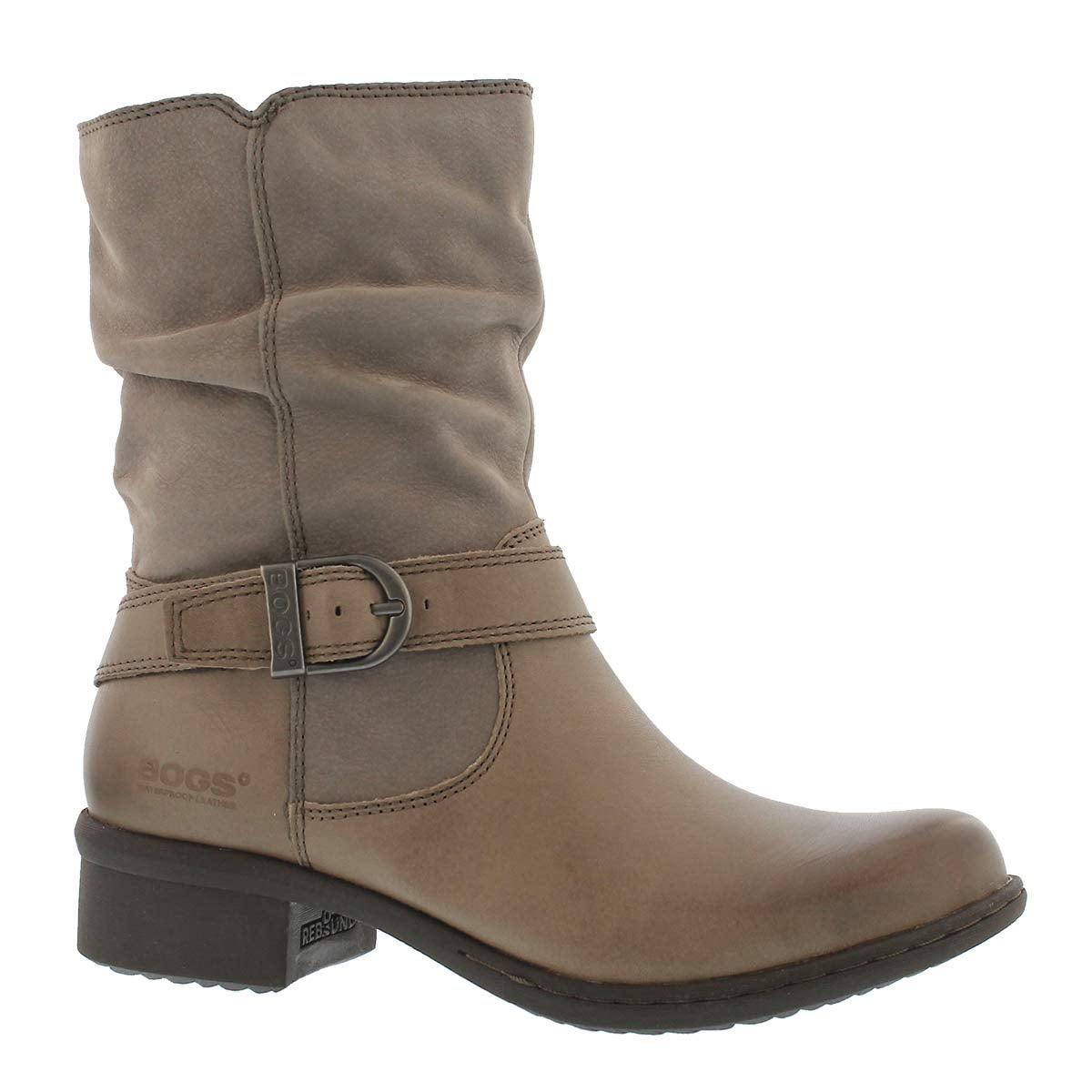 Lds Carly Mid taupe wtpf ankle boot