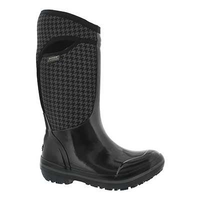 Lds PlimsollHoundstoothTall bk wtpf boot