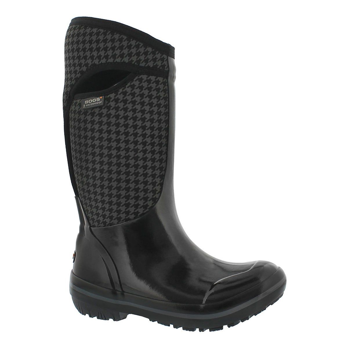 Women's PLIMSOLL HOUNDSTOOTH TALL waterproof boots