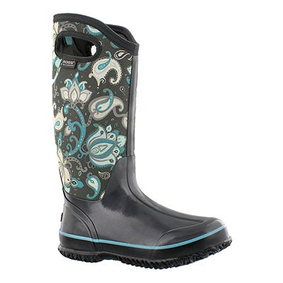 Bogs Women's CLASSIC PAISLEY FLORAL TALL wtrproof boots