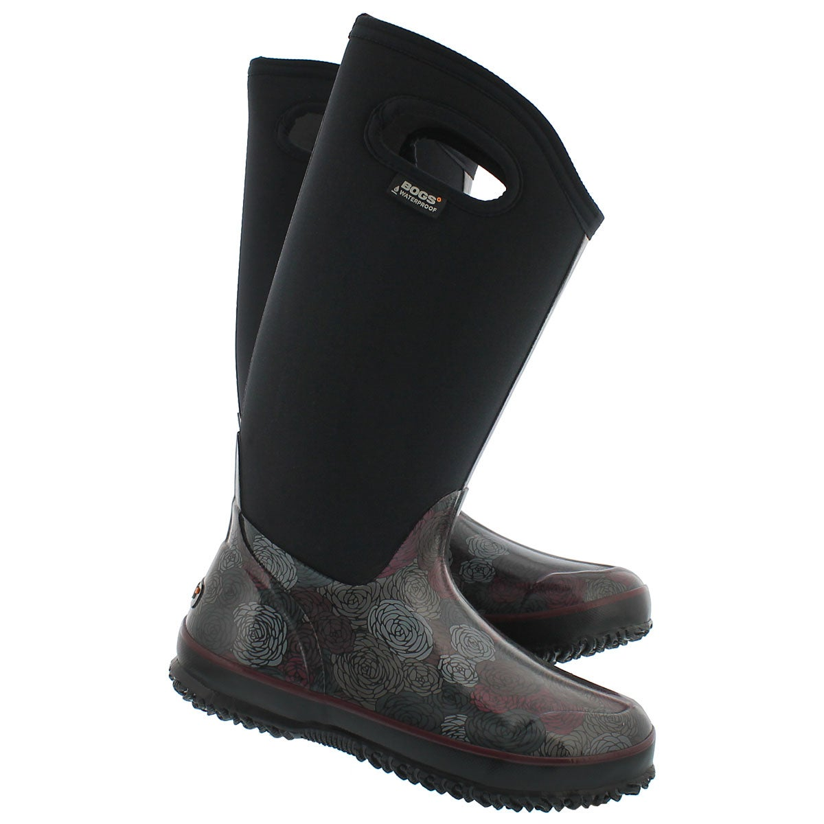 Lds Classic Rosey Tall blk wtpf boot