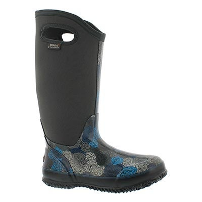 Bogs Women's CLASSIC ROSEY TALL grey waterproof boots